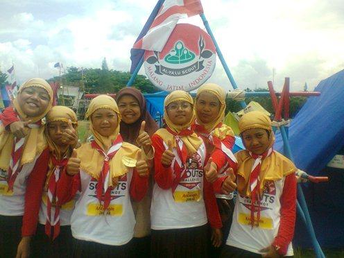 Regu Pramuka putri Al-Ya'lu juga siap mempertahankan juara